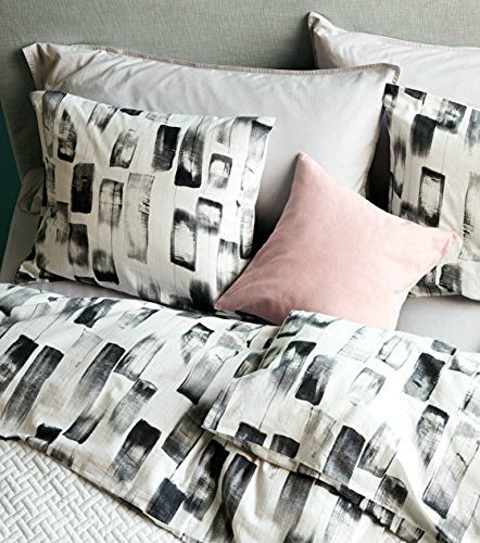 Modern Abstract Gray Brush Stroke Duvet Quilt Cover Black Charcoal Grey And White Paint Texture Pattern 100 Percent Cot Quilted Duvet Twin Bed Sets Quilt Cover