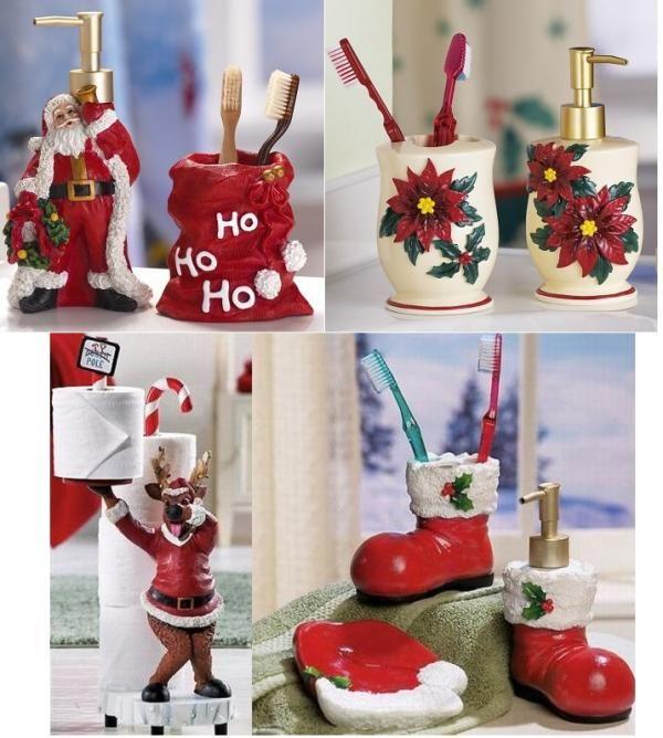 Accesorios para el ba o navide os navidad pinterest for Accesorios para decorar en navidad