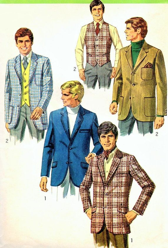 60s Mens Classic Sports Jacket Or Formal Blazer And Vest Etsy 1960s Fashion Mens 1960 Fashion 1960s Costumes