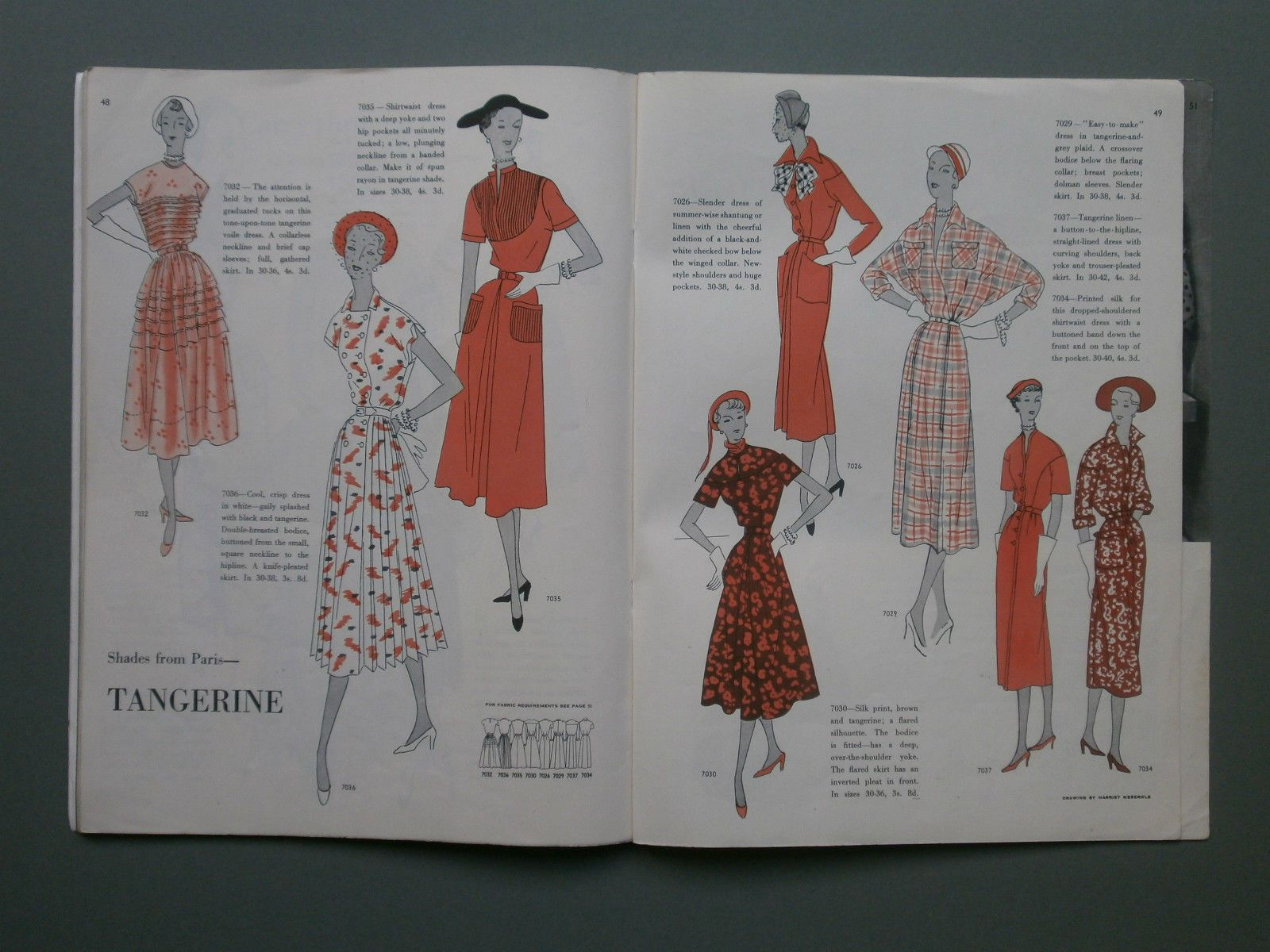 VOGUE PATTERN BOOK SUMMER 1950 - SEWING, FASHIONS, EXCELLENT ...