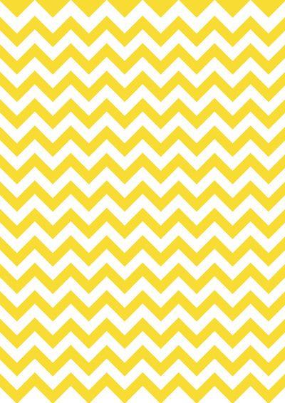 chevron yellow Art Print