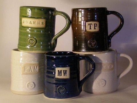 Personalised Hand Thrown Coffee/Tea Mug