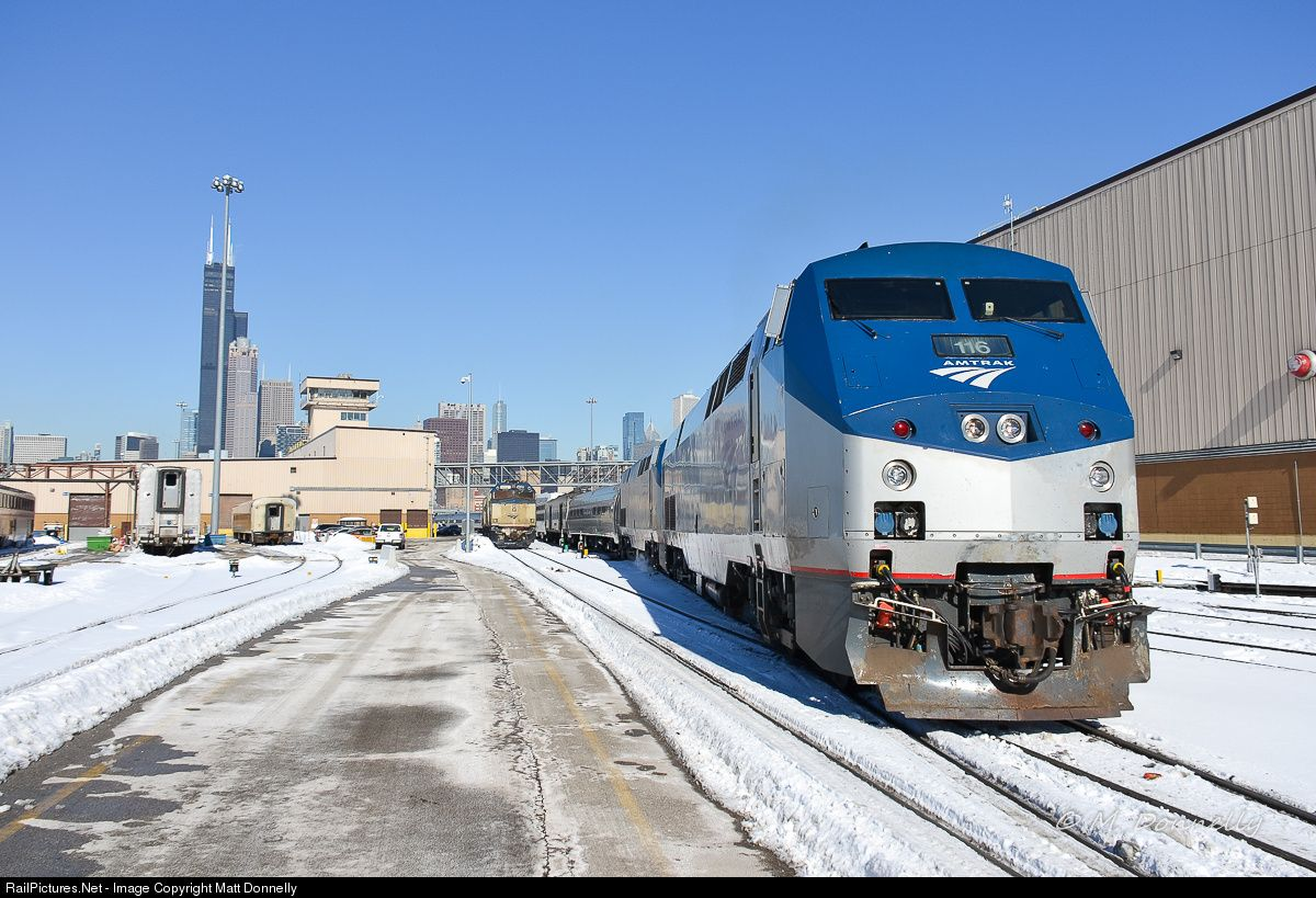 RailPictures.Net Photo: AMTK 116 Amtrak GE P42DC at Chicago, Illinois by Matt Donnelly