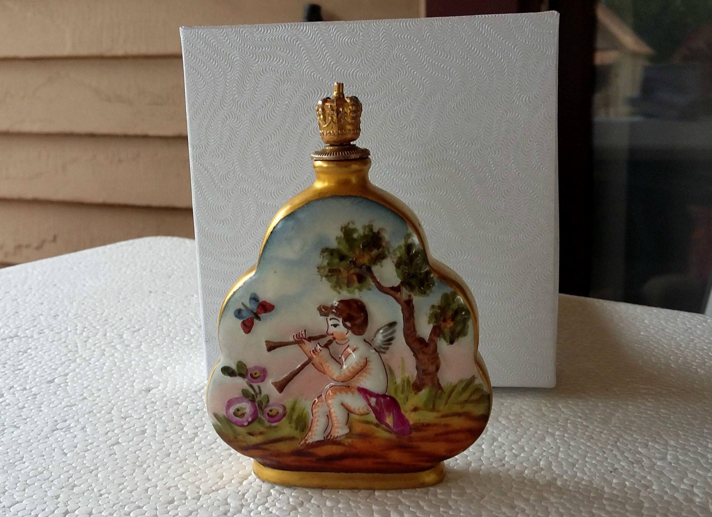 Rare Vintage Art Deco, Potscappel German Perfume Crown Cork Parfum