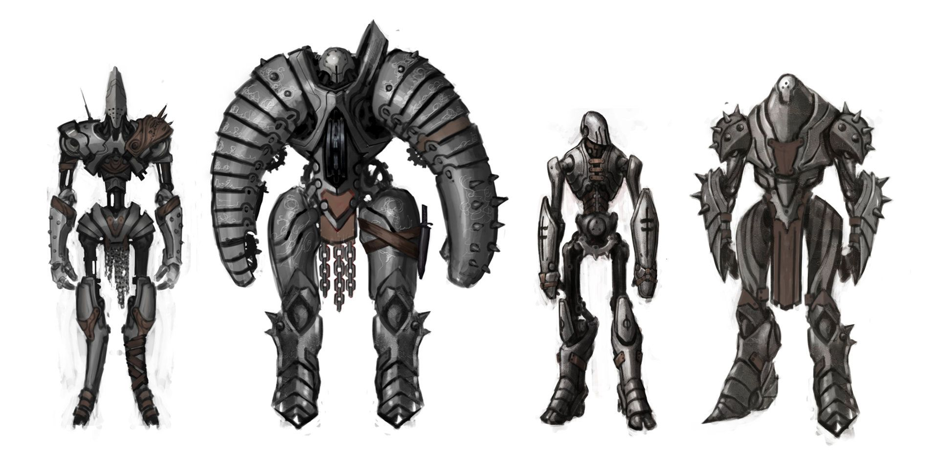 concept art for infinity blade 3, the living machines  | RPG