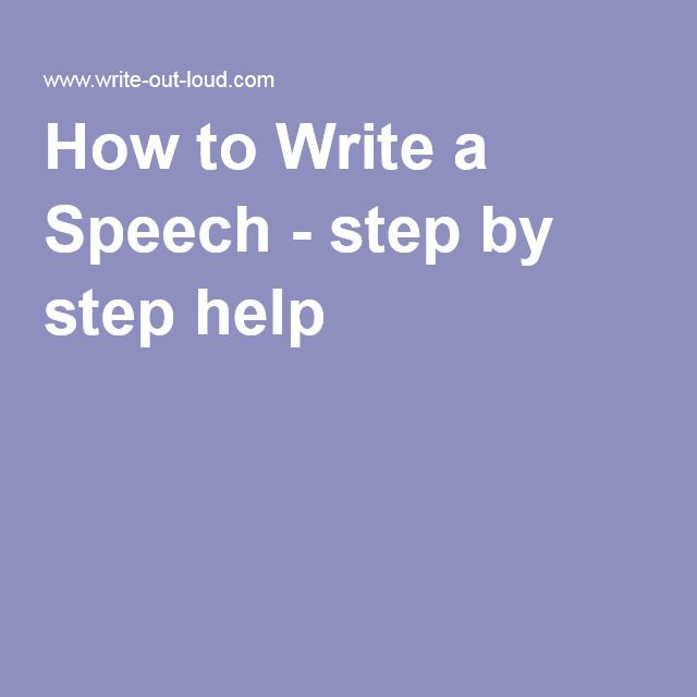 How To Write A Speech  Step By Step Help  Speech