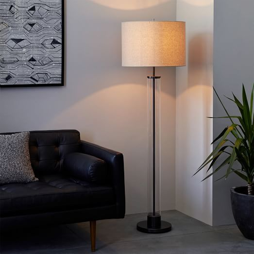 Column Floor Lamp Httpwwwwestelmproductsacryliccolumnfloorlampantique