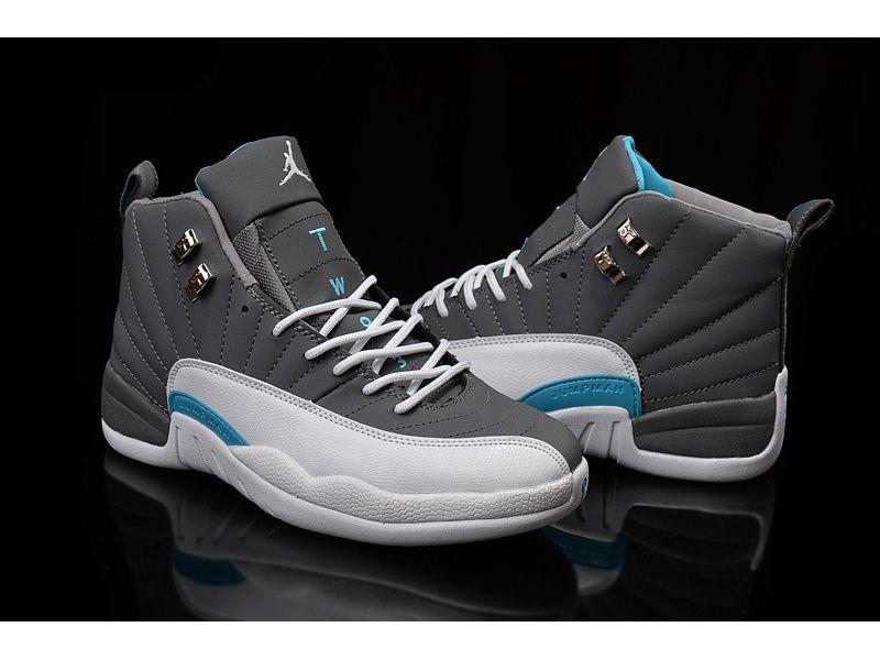 Air Jordan 12 Wolf Grey/university Blue-white For   White nike ...