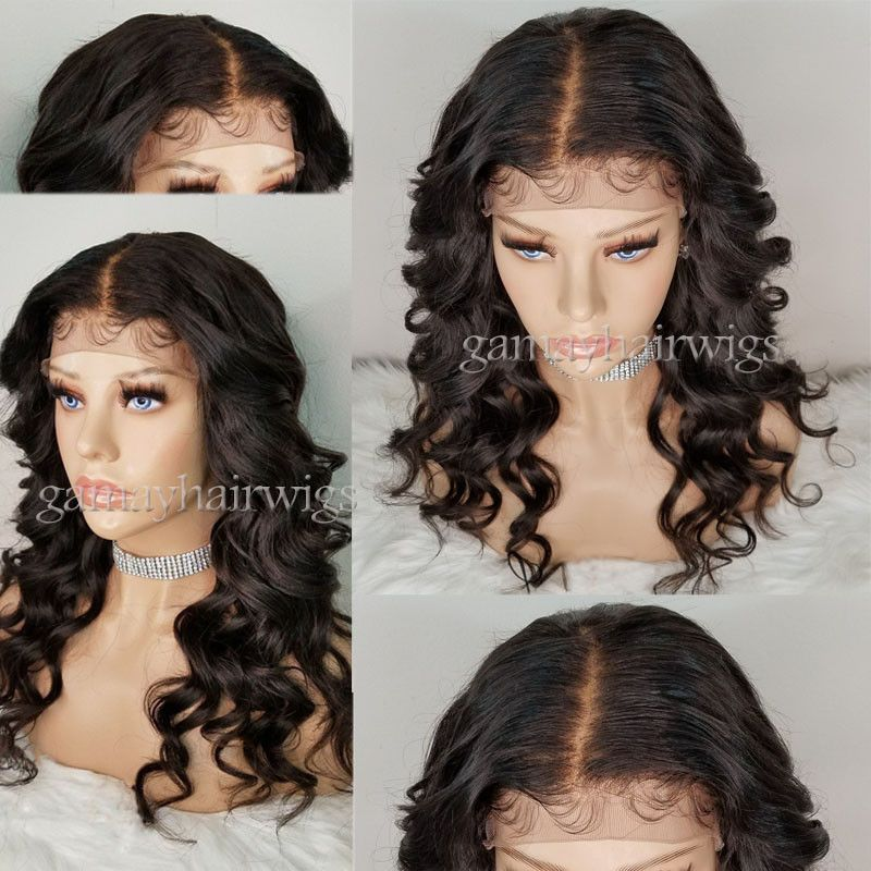Glueless 360 Lace Wigs Virgin Human Hair Wigs 250 Density Pre