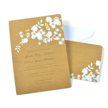 Gartner Studios Bird Wedding Invitations 50 Piece Walmart Com Wedding Invitation Kits Invitation Kits Printable Wedding Invitations