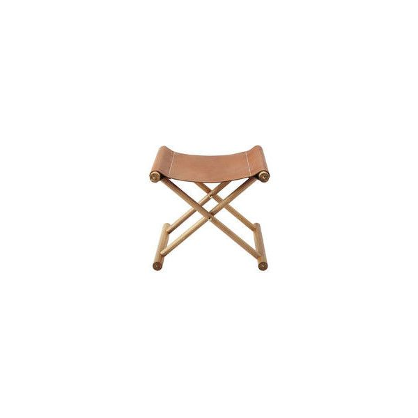 Serena & Lily Cooper Leather Stool ($795) ❤ liked on Polyvore featuring home, furniture, stools, leather furniture, euro furniture, european furniture, folding stool and serena & lily