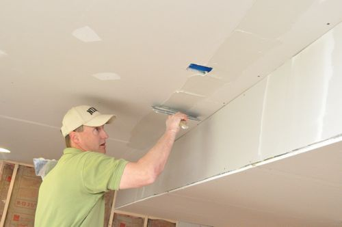 How To Install Drywall With 75 Pics Hanging Taping Finishing Drywall Installation Building A Deck Hanging Drywall
