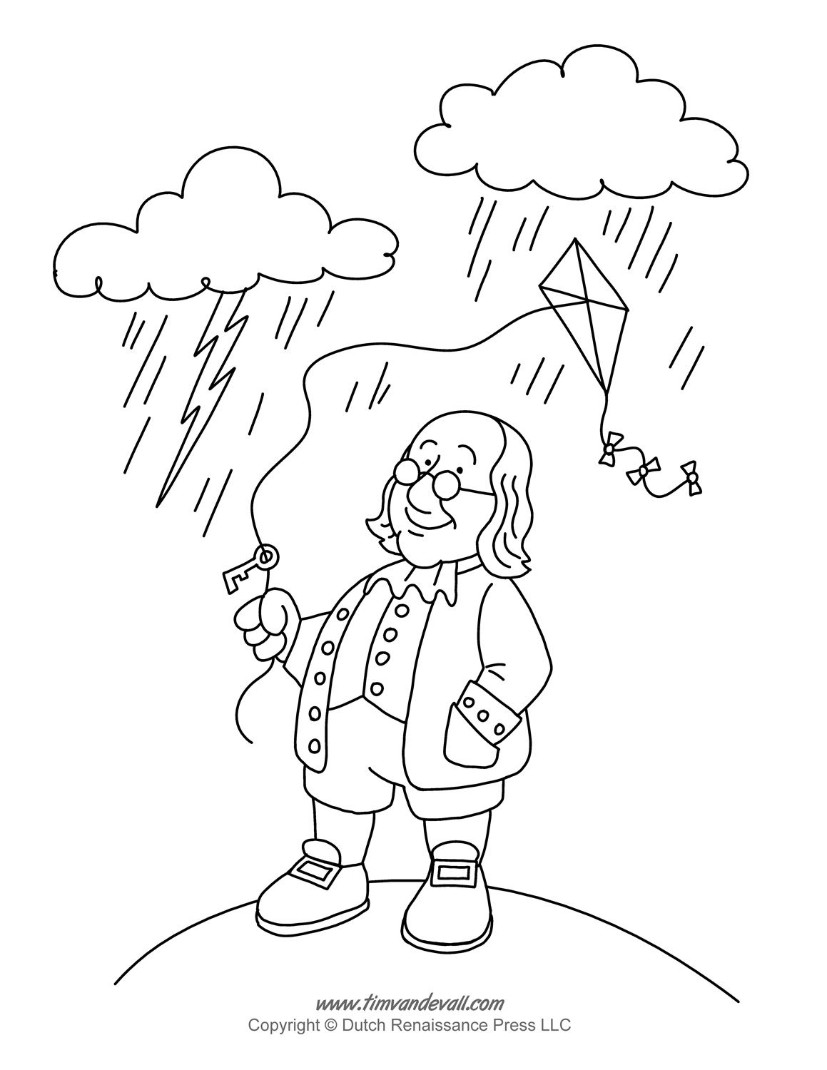 Benjamin Franklin Coloring Page | Philly + Penna | Pinterest ...