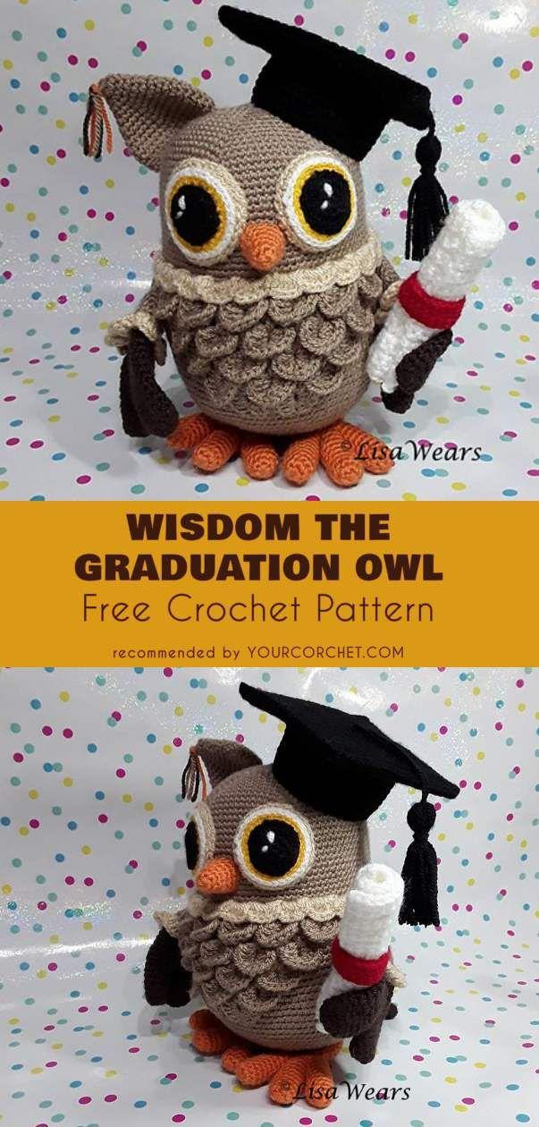 Wisdom The Graduation Owl Amigurumi Free Pattern Crochet Toys Free Crochet Animal Amigurumi Crochet Toys Free Patterns