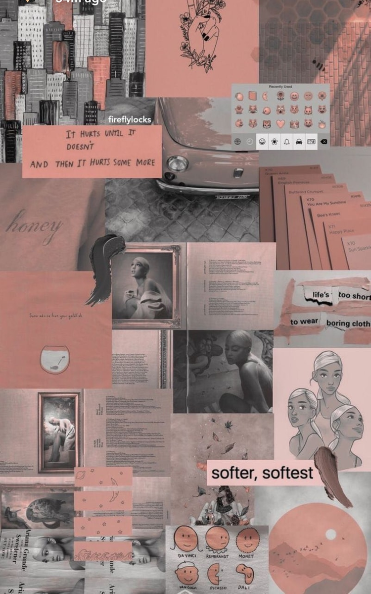 7 Aesthetic Collage Wallpaper Ariana In 2020 Aesthetic Pastel