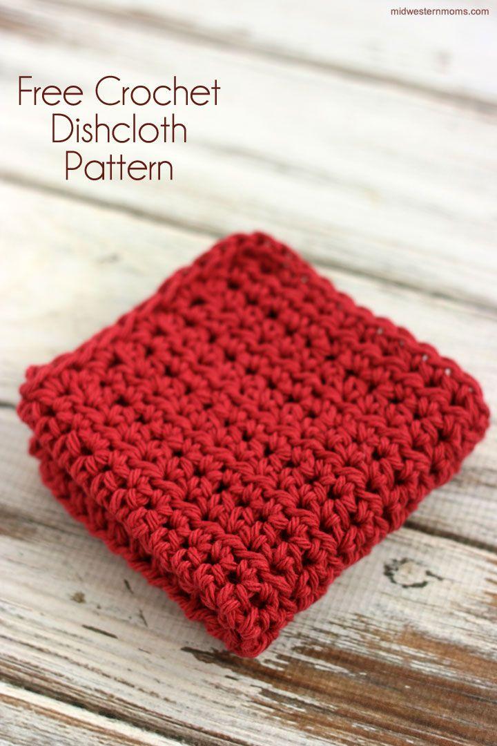Free Crochet Dishcloth Pattern   Crochet patrones, Patrón de ...