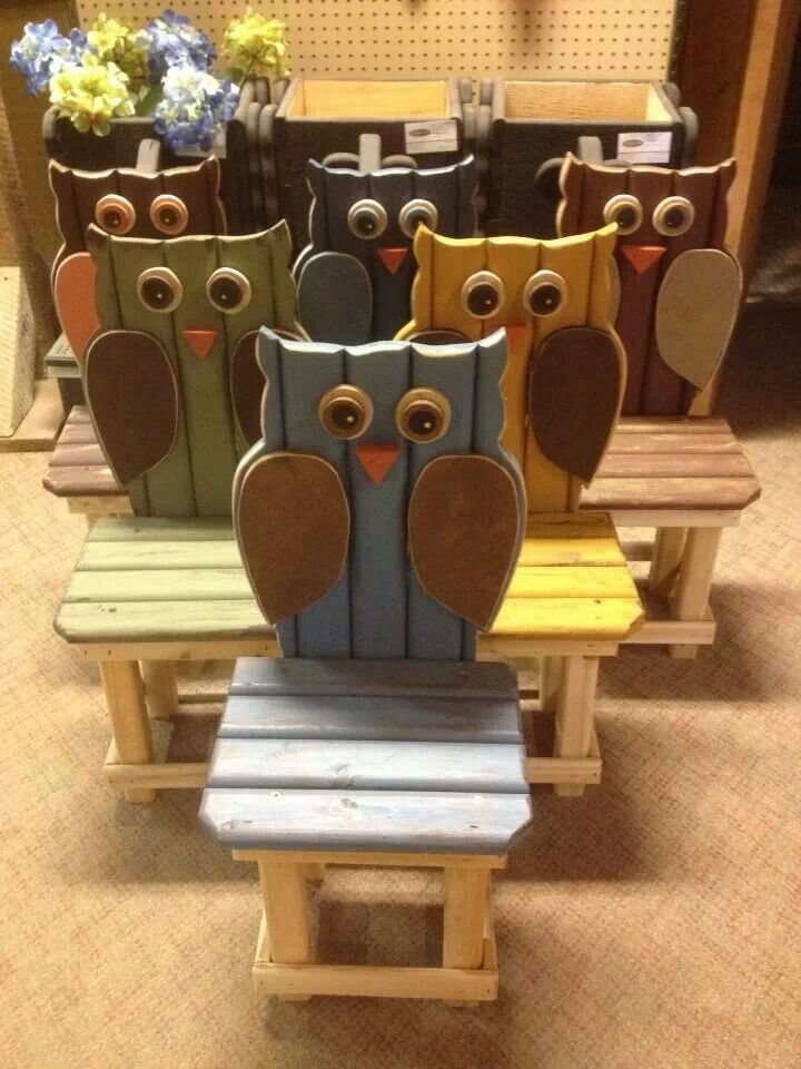 Owl benches!!!
