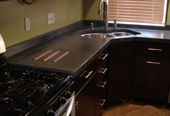 Kitchen Trivet Inlay Concrete Countertops Concrete Counters STL St. Louis,  MO