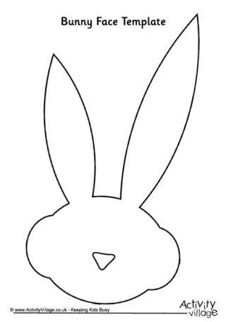 Bunny Face Template | KREATIVITA | Pinterest | Face template, Bunny ...