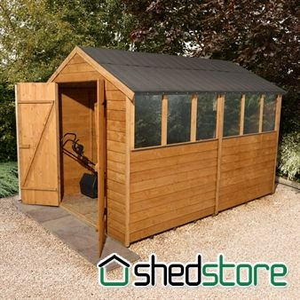 Mercia Overlap Pent Shed 10x6 Shed Garden Sheds For Sale Wooden Sheds