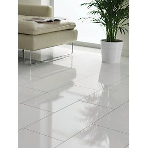 High Gloss White Laminate Flooring