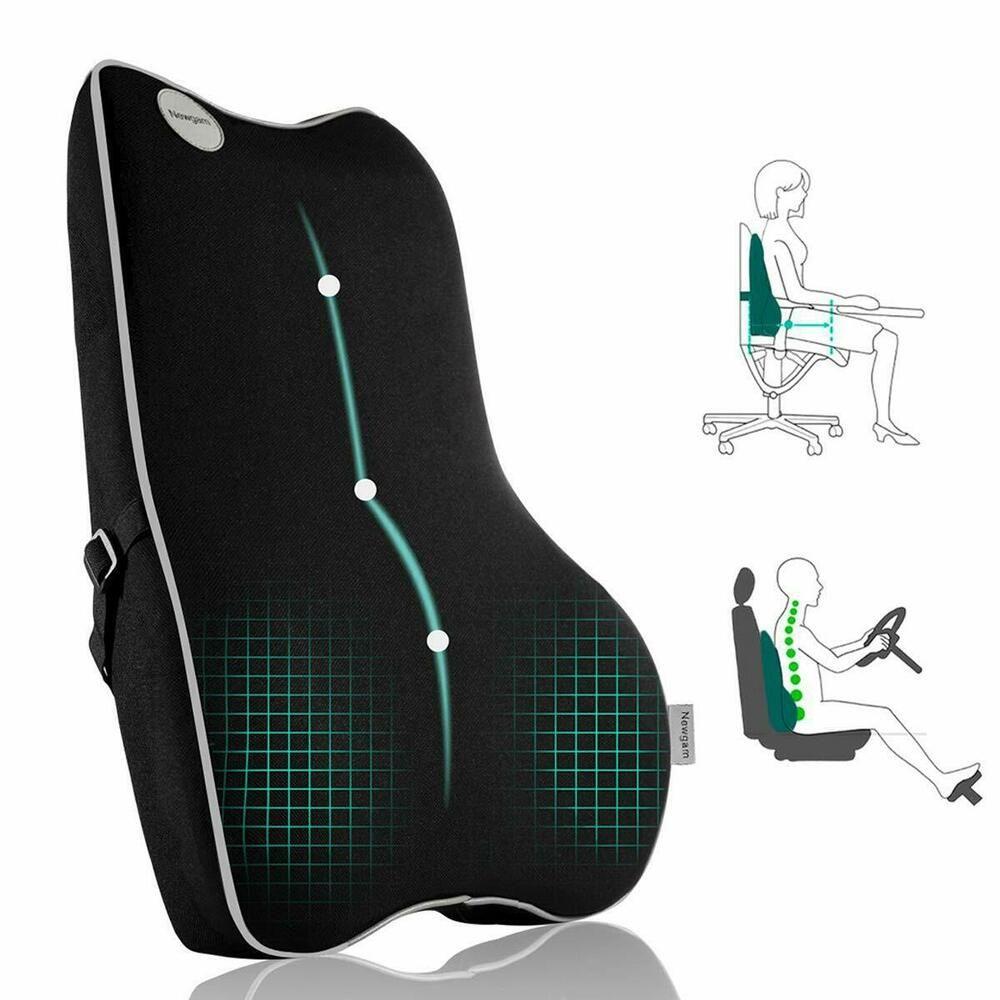 Details about Lumbar Support back Pillow,Memory Foam