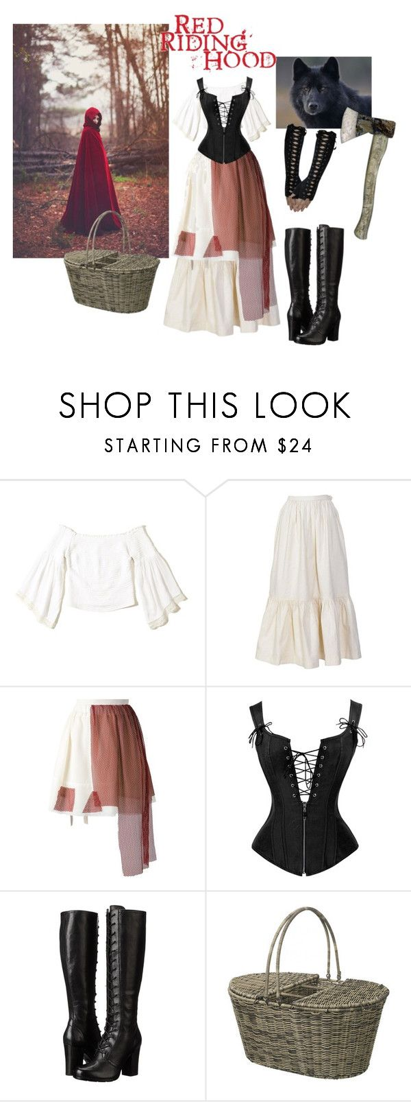 """""""The Little red riding hood..."""" by swirl38 ❤ liked on Polyvore featuring Hollister Co., Yves Saint Laurent, Area Di Barbara Bologna, Frye and Parlane"""