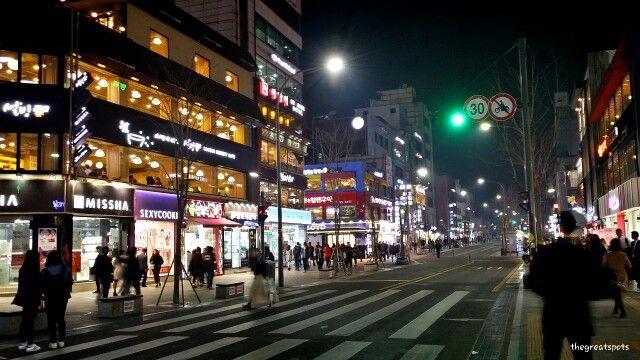 신촌역 Sinchon Stn Seoul Night Sunset Photography Night City