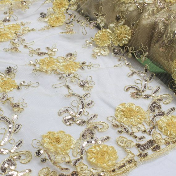 Gold 51'' Teresita 3D Floral Foil Vines With Sequin