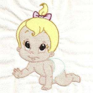 Free Embroidery Design: Baby