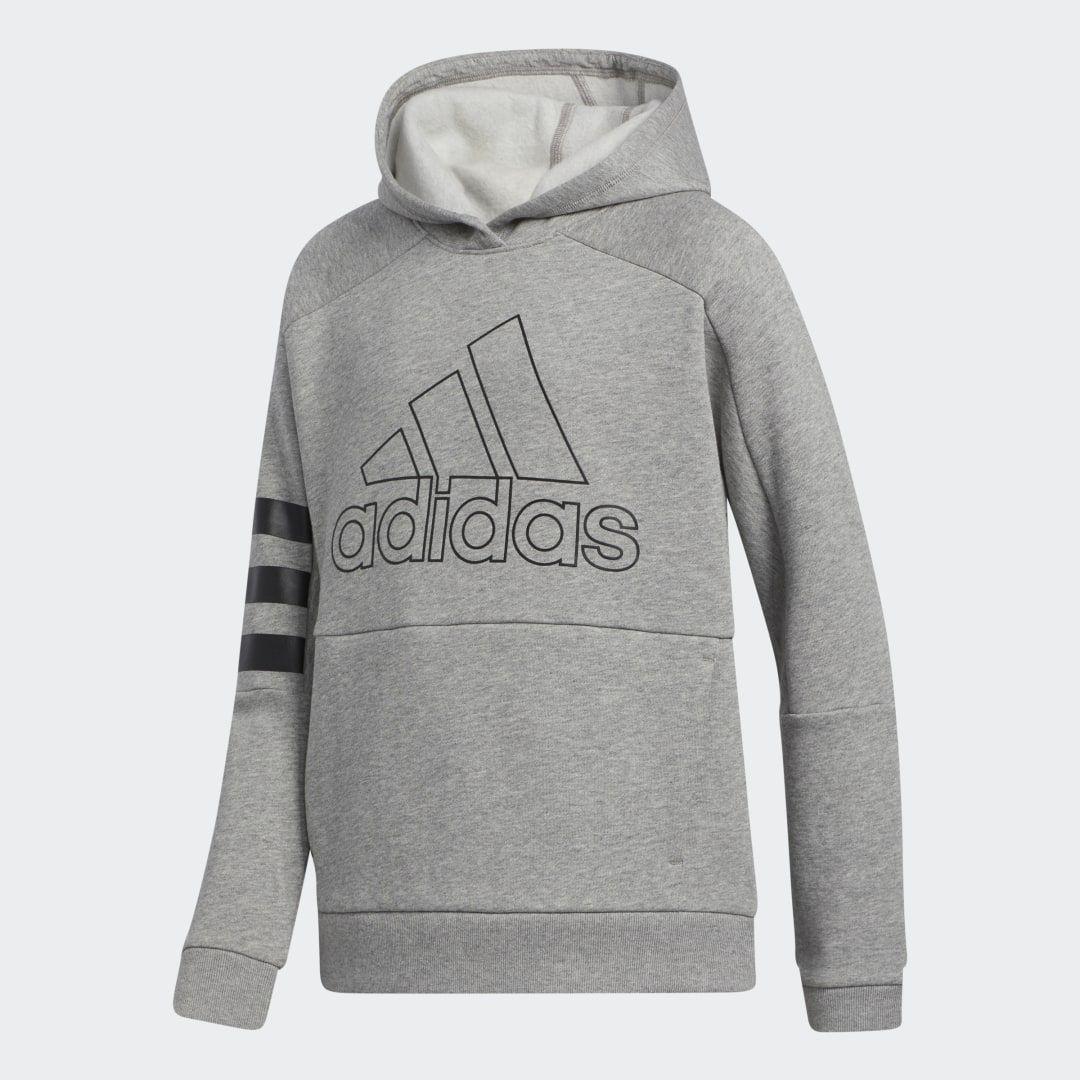 Adidas Bos 3s Hooded Pllovr Grey Adidas Us Grey Adidas Adidas Boys Sweatshirts [ 1080 x 1080 Pixel ]