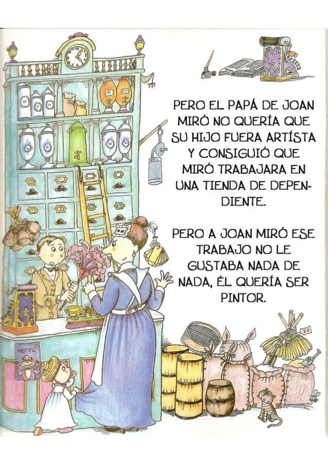 La Pequeña Historia De Joan Miro Joan Miró Para Niños Joan Miró Niños Arte
