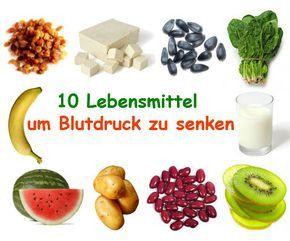 Hier ist eine Liste an verschiedenen Lebensmittel, die Sie