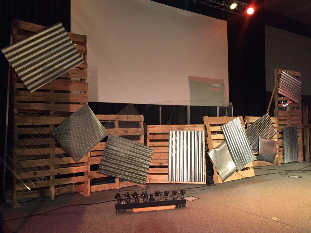 Industrial Yard Metal sheeting, Industrial, Stage design