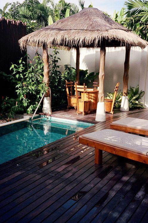 Tiki Hut!!! | Backyard, Backyard pool, Tiki hut