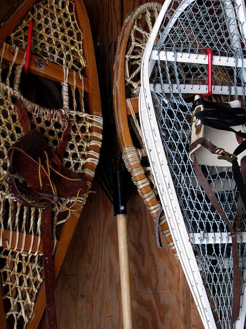 old trapper snowshoes