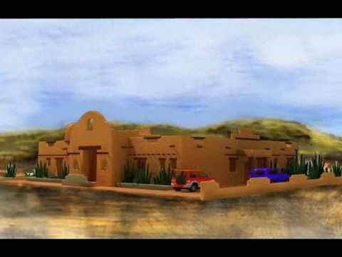 planos de casas Modelo Estilo Santa Fe-1 Arquimex Planos de Casas