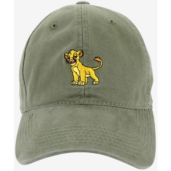 1acb49754fb Disney The Lion King Simba Dad Hat ( 15) ❤ liked on Polyvore featuring  men s fashion
