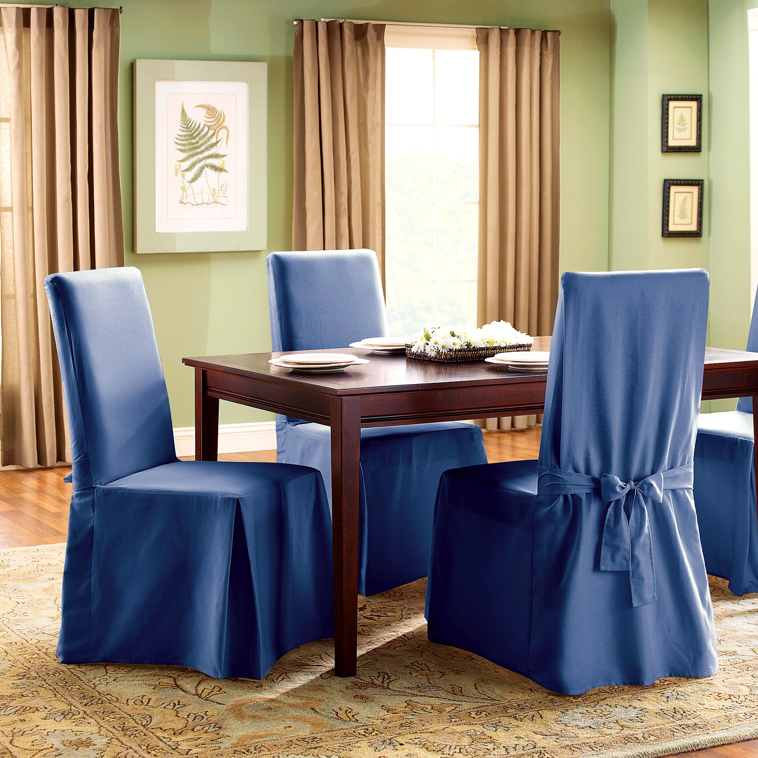 Dining Room Leopard Dining Chair Slipcovers White Linen