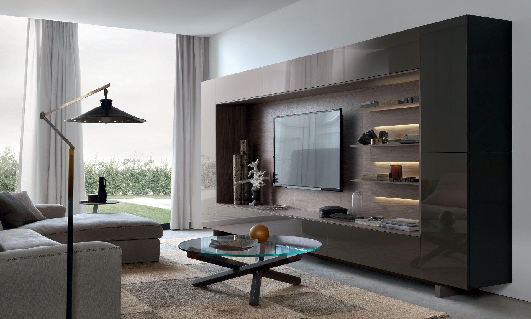 Italian wall units living room - Room