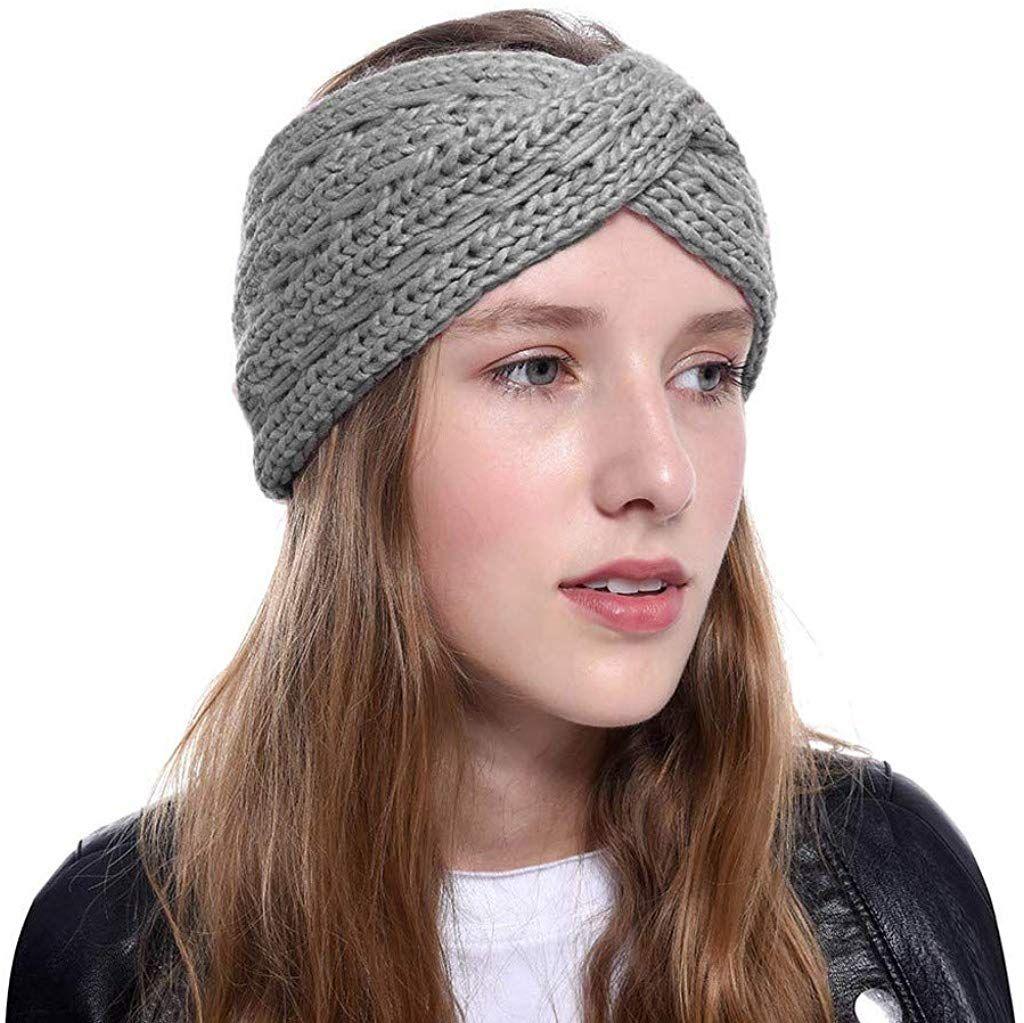 Womens Knit Chunky Cable Headband Turban Crochet Twist Head Wrap Ear Warmer Boho