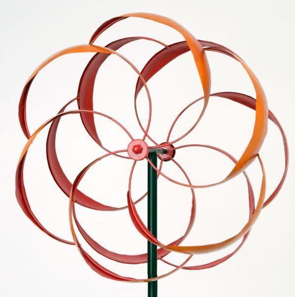 Metal Wind Spinner Garden Art Outdoor Kinetic Windmill Yard Decor Sculpture  Lawn