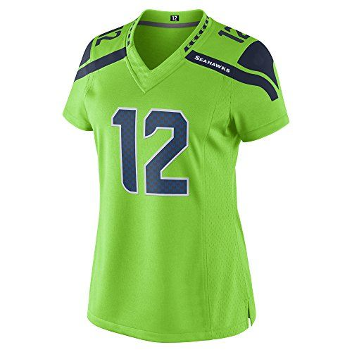 3ece61f83 ADULT WOMENS CUSTOM NAME FAN SEAHAWKS JERSEY COLOR RUSH GREEN  35.00 ...