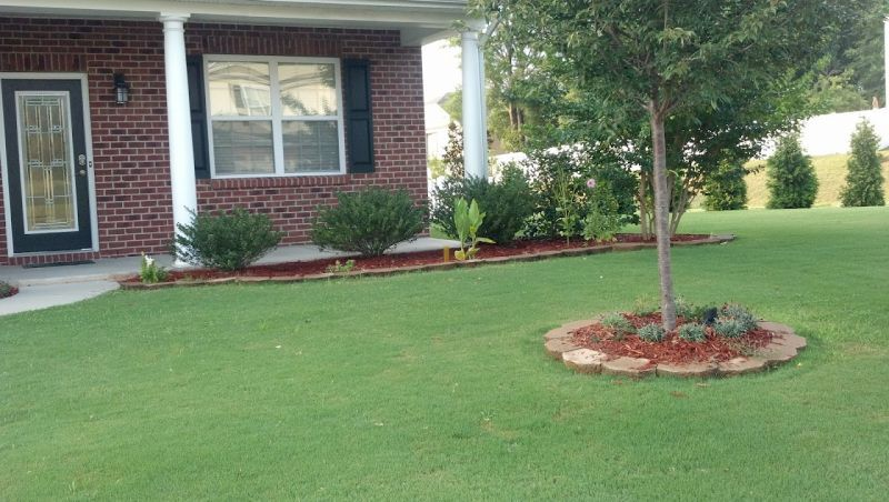 Pin By Rica Crawford On Home Front Lawn Landscaping Yard Landscaping Simple Side Yard Landscaping