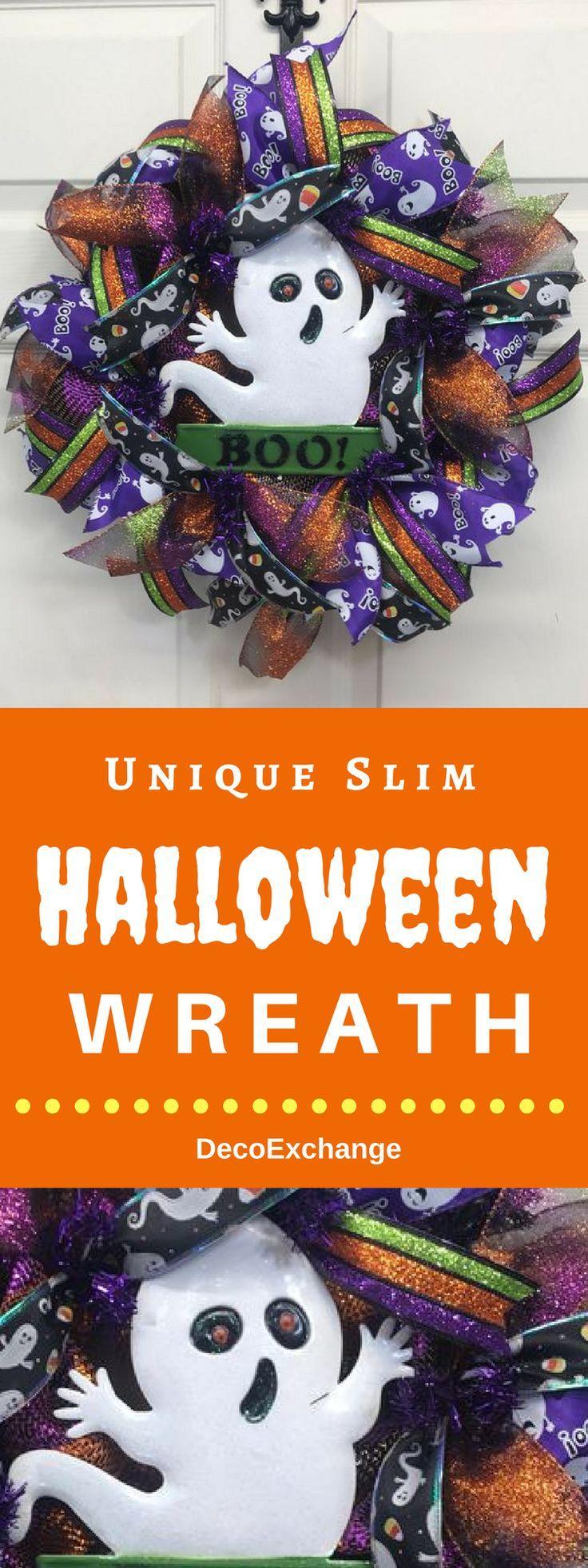 Front Door Wreath, screen door wreath, slim wreath, Wreath for Halloween , Best Door Wreath, Holiday Wreath, Halloween wreath, Custom Wreath. via @DecoExchange