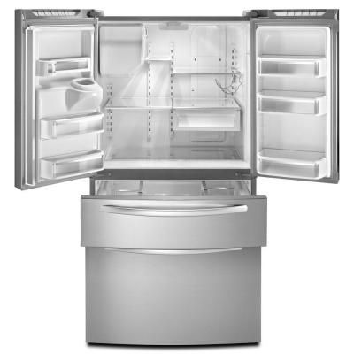 KitchenAid Architect Series II 24.5 Cu. Ft. French Door Refrigerator In  Monochromatic Stainless Steel