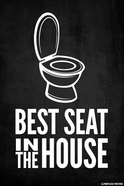 Photo of Best Seat In The House (Toilet) Poster