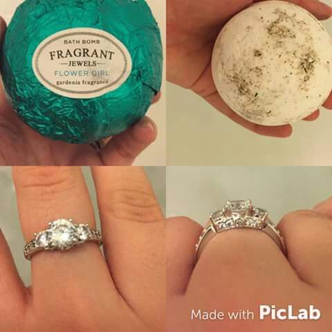 Our Flower Girl Bath Bomb And The Gorgeous Ring That Came In It Fragrant Jewels Bath Bomb Bath Bombs With Rings Fragrant Jewels