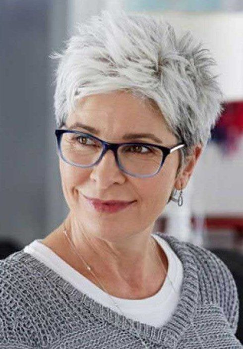 short hairstyles for thick hair over 50 older wome