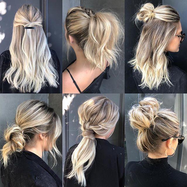 6 Simple Summer Styles 6 Simple Summer Styles Work Hairstyles Interview Hairstyles Bun Hairstyles For Long Hair